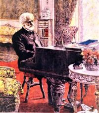 Verdi at the piano at Sant'Agata