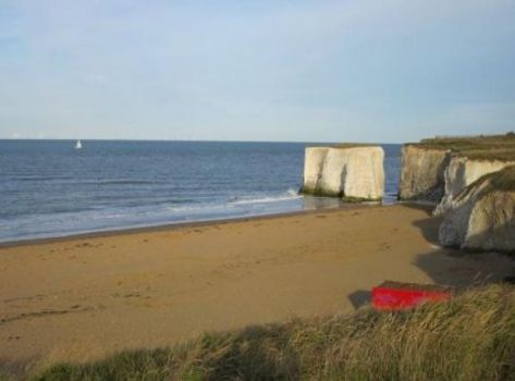 Beach, Botany Bay, Kent. UK.