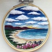 Landscape Embroidery - Beach