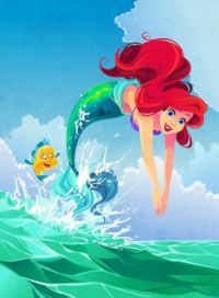 Ariel diving