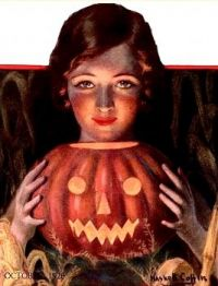 Halloween cover of The Farmer's Wife magazine October 1928, Haskell Coffin (1878-1941)