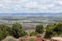 Grand Junction-Fruita, Colorado From The Edge of Colorado National Monument