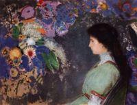 Odilon Redon - Portrait of Violette Heymann