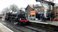 Black 5 and BR Class 4 at Grosmount