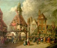 Scene at the High Cross, Garrick Jubilee, Stratford-upon-Avon, Warwickshire, c. 1760
