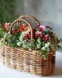 Košík plný květů