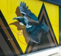 mural of a tui