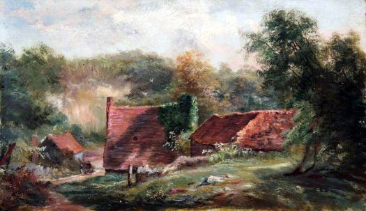 At the Foot of the Addington Hills, Croydon, Surrey by Walter William Acock