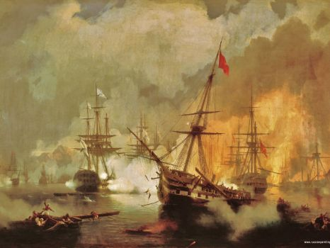 Aivazovskiy - Sea Battle Near Navarino 1846