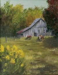 The Old Cow Barn Canvas Print