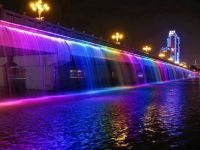 Bridge with colored lights