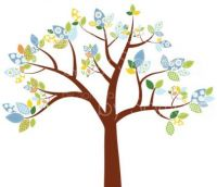 Fabric tree clip art