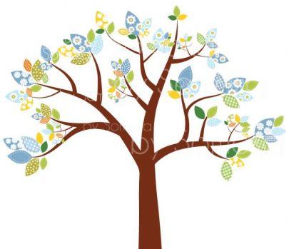Fabric tree clip art