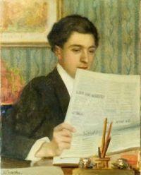 Protti, Alfredo - Man reading the newspaper