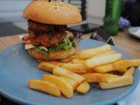 Spicy chicken breast burger