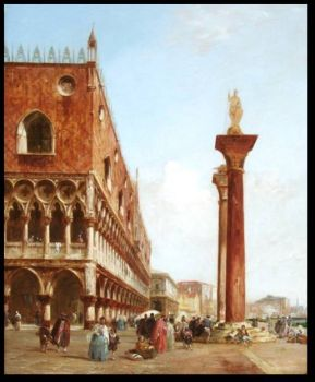 Ducal Palace from Piazzetta by Edward Pritchett