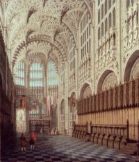 London: The Interior of Henry VII's Chapel in Westminster Abbey