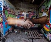 Let's shake our hands and be good to eachother