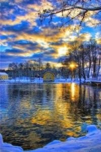 Icy Blue Landscape