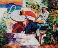 Moïse Kisling (French, born in Poland, 1891–1953), La Sieste à Saint-Tropez (1916)