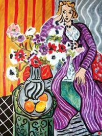 Lady In Purple Robe - Henri Matisse
