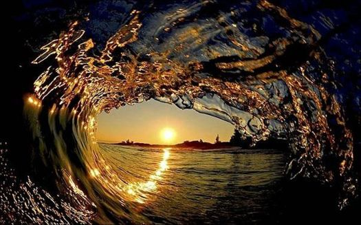Sunset thru Wave