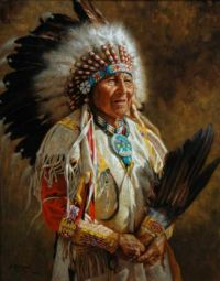 3.  ~  Painting of a Chief.