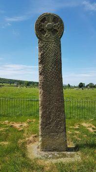 Maen Achwyfan Cross near Whitford, North Wales UK