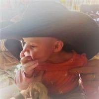 Wearing Gampa's Cowboy Hat (It was Also Great-Gampa Miller's Hat) (2)