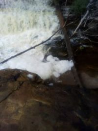 Foam from the Lower Tahquamenon Falls