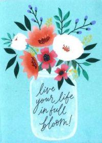 Full Bloom Note Card