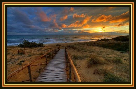 Walkway Into Sunset