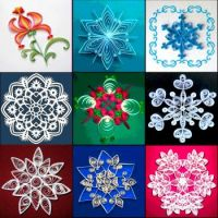 quilling snowflakes and flowers