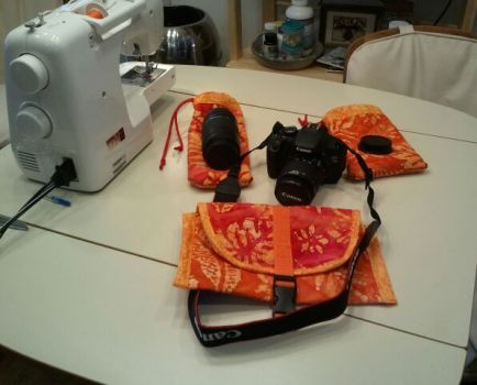 Finished Project:  Camera and Lens Bags