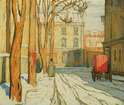 Toronto Stret, Winter Morning by Lawren Harris