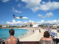 Jet landing in St Maarten