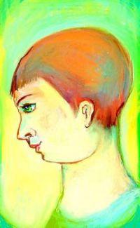 Boy on the cusp of manhood .    ( digital drawing.)