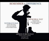 Memorial Day - Remember the Difference