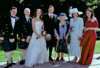 Weddings: 2007, in Scotland, with the young men wearing kilts!