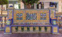 Algeciras ceramic bench