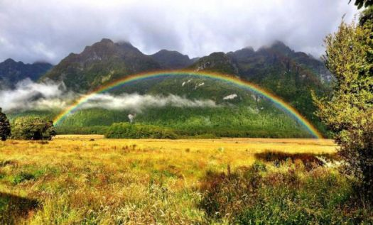 Perfect rainbow, Wilford, New Zealand..!!