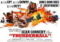 THUNDERBALL - 1965 UNUSED POSTER   SEAN CONNERY  is  JAMES BOND