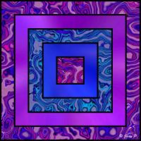 Blue, Pink and Purple Squares (S)