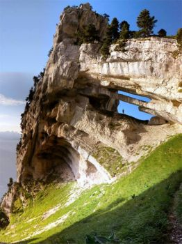 Rock formation in France, Massif de la Chartreuse