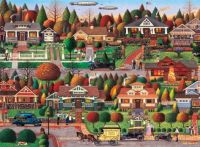 Labor Day in Bungalowville - Charles Wysocki