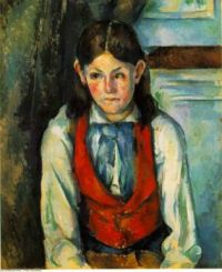 Paul Cézanne--Boy in a Red Waistcoat Painting, 1888 - 90