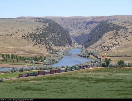 148=Wyoming, Wind River Canyon-BNSF Railroad