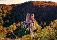 Eltz Castle in autumn landscape