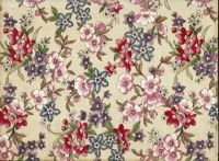 Floral fabric pattern - small