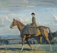 """Portrait of Lady Barbara Lowther on Horseback"""